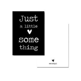 Minnikaart | Just a little something/zwart