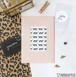 Minikaartje | panterprint