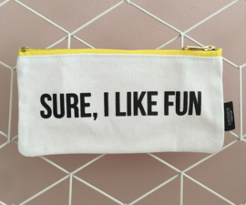 "Canvas bag ""Sure, I like fun"""