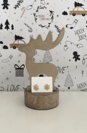 Kerst oorbellen sneeuwvlok goudkleurig