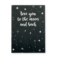 """Sieradenkaart """"To the moon and back"""""""