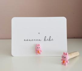 Kaartpin   Pink Rabbit