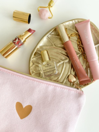 Cosmetic Bag / Etui | Pink & a Heart of GOLD