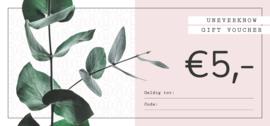 Kadobon UNEVERKNOW €5