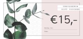 Kadobon UNEVERKNOW €15
