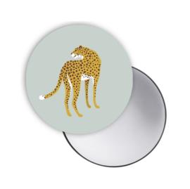 Spiegeltje Leopard groen