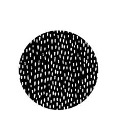 Stickers XL | Hand drawn dots | Zwart