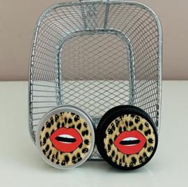 Blikje aluminium lippen met dierenprint