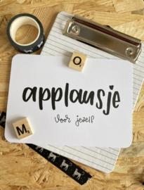 Kaart | Applausje voor jezelf