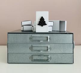 """Kartonnen kadodoosje/gelddoosje """"kerstboom"""""""
