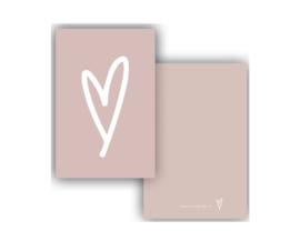 Minikaart | Hart roze