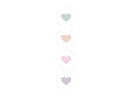 Kadosticker | Pastel Hearts Assorti