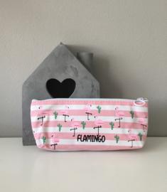 Etui-Flamingo gestreept
