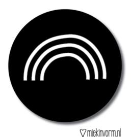 Sticker regenboog zwart/wit