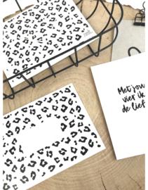 Envelop met panter patroon