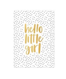 Kaart | Hello little Girl