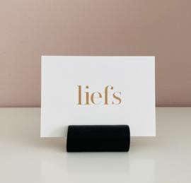 Kaarthouder-Hout | Balkje rond