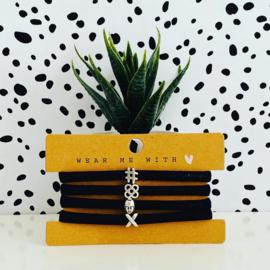 Armbandjes elastisch lint met schuiver