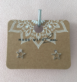 Oorbellen Small star silver