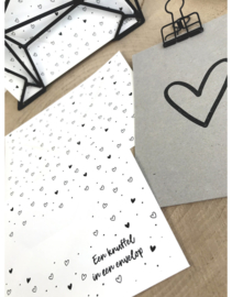 Envelop hartjes patroon