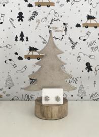 Kerst oorbellen sneeuwvlok zilverkleurig