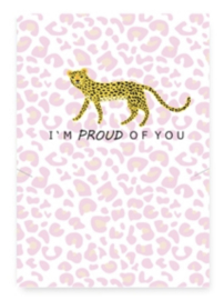 I'm proud of you