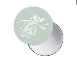 Spiegeltje | Orchidee groen