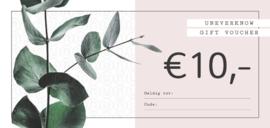 Kadobon UNEVERKNOW €10
