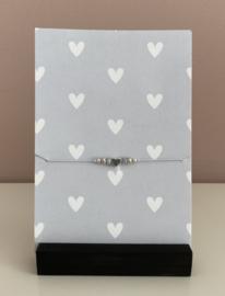 Sieradenkaart Hartjes en armbandje met hartje