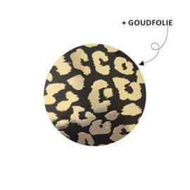 Kadosticker Cheetah zwart - goud