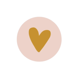 Kadosticker |  Pink & Golden Heart