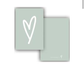 Minikaar | Hart groen