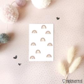 Mini-kaartje Regenboogjes.