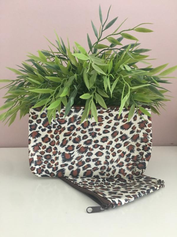 Panter luipaard etui/make-up tas