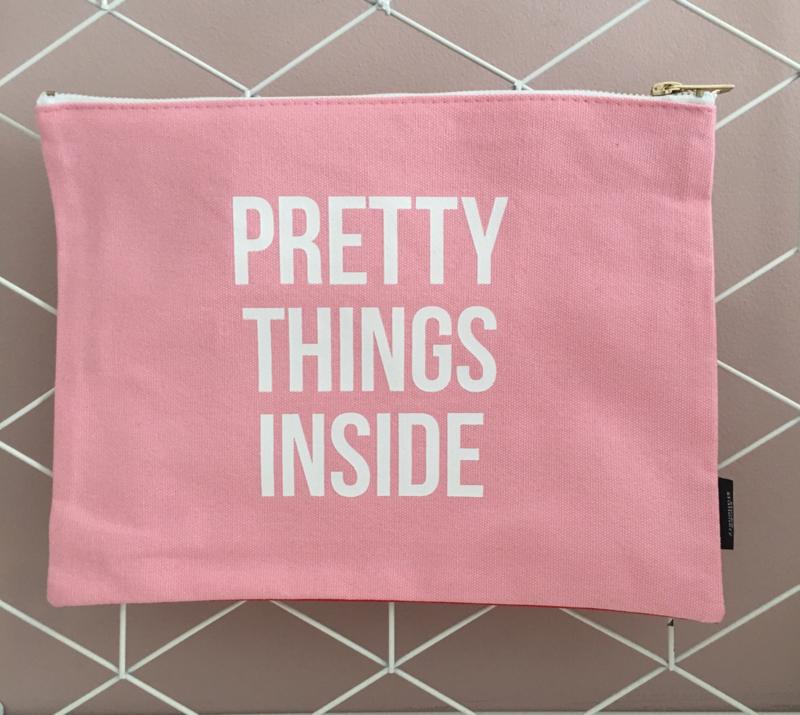 """Canvas bag """"Pretty things inside"""""""