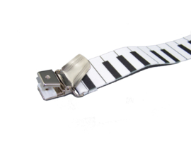 Bretels Piano (wit) met extra sterke clips