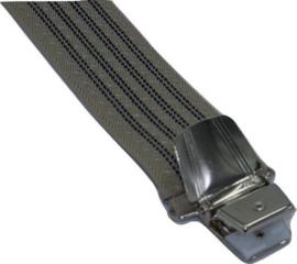 Cremé/Blauw gestreepte Bretels met extra sterke clips