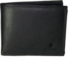 Grote Leren heren portemonnee laag model Billfold voor 9 creditcards