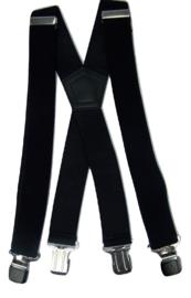 Zwarte Heavy Duty Bretels met 4 extra sterke stalen clips