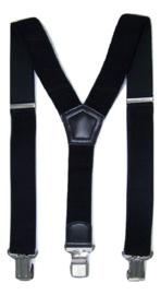 Zwarte Bretels met de sterkste stalen clips