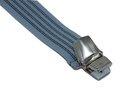 Lichtblauwe bretels met donkerblauwe streep en extra sterke brede clips