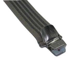 Beige met donkerblauwe streep Bretels met 4 extra sterke clips