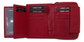 Leren Rits Portemonnee voor 15 creditcards
