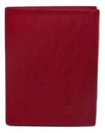 Kleine Dutch Design portemonnee (hoog model) rood 5 creditcardvakken.