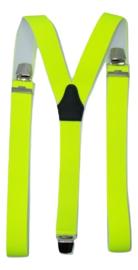 Fluoriserend Geel Bretels met extra sterke clips