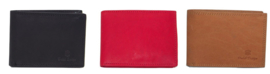 Extra kleine Dutch Design leren portemonnee billfold (landscape) model.