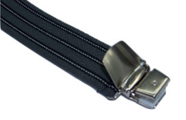 Grijs gestreepte Bretels met extra sterke clips