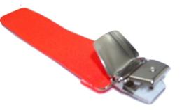 Fluoriserend Oranje Bretels met extra sterke clips
