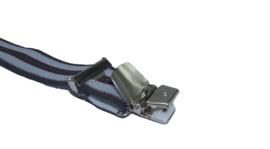 Antraciet Rode bretels brede streep met 4 extra sterke clips
