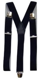 Donkerblauw Bretels met extra sterke clips
